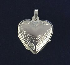 NEW Sterling Silver Heart Locket 925 Pendant Free Shipping Option S/S
