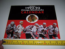 1992-1993 7 AUTOGRAPHS SIGNED CHICAGO BLACK HAWKS HOCKEY CALENDAR -