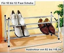 Regal Schuhregal Schuhständer Schuhe Regal ausziehbar 62 x 118cm aufstockbar