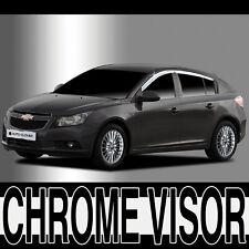 Chrome Window Visor Vent 4p Set For 11 Chevy Cruze 5d