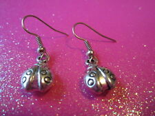 "Lady Bug Earrings 1/2"" Inch Drop"