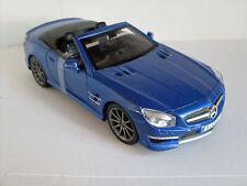 Mercedes-Benz SL 63 AMG `12 bleu, Maisto Auto Modèle 1:24