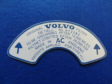 VOLVO P1800S AMAZON 122S 123GT DECAL / STICKER FITS REAR AIR FILTER 672281