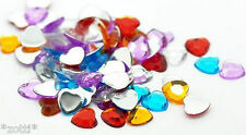 Hearts 8mm x 8mm 20 Piece Acrylic Scrapbooking Crafting Love Wedding Scatter