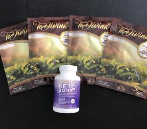 Authentic Te Divina Original Detox Tea.4 week Ultra fast KetoBurn Fat  Pills 60