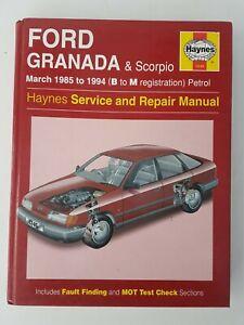Granada Ford Car Service Repair Manuals For Sale Ebay