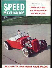 Speed Mechanics Magazine Feb/March 1955 Dual Pipes Olds EX No ML 011017jhe