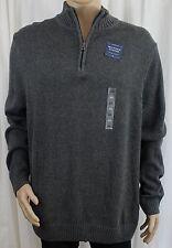 Grey Mockneck Men's Quarter Zipper Sweater Croft & Barrow 2XL