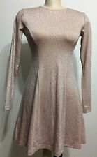 Forever 21 Sexy Glossy Shimmiring Long Sleeve Women Dress Size Small