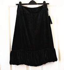 NEW BURBERRY Black velvet skirt IT38