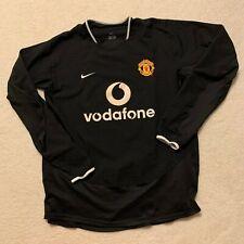 Manchester Nike Black Away Long-Sleeve Jersey 2003-04 - Men's L