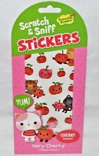 PEACEABLE KINGDOM 38 SCRATCH N' SNIFF-CHERRY SCENTED STICKERS-KITTIES & CHERRIES