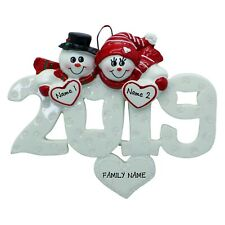 PERSONALIZED 2019 Sweetheart Snow Love Couple Christmas Ornament Holiday Gift