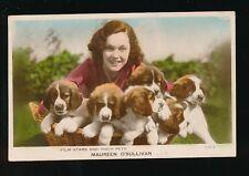Dogs Film Stars pets MAUREEN O'SULLIVAN used c1920s RP PPC