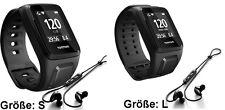 TomTom Spark Cardio Music Bluetooth Kopfhörer Fitness Gps-uhr Large schwarz