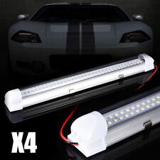 4x 12V 72 LED Car Interior Light White Strip Tube Van Bus Caravan ON OFF Switch