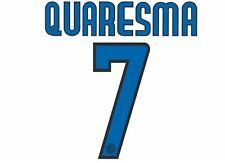 Quaresma #7 Inter Milan 2009-2010 Away Football Nameset for shirt
