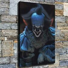 Scary clown HD Canvas printed Home decor painting room Wall art picture poster