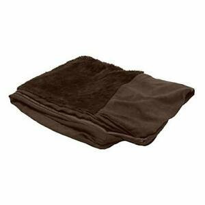 Furhaven Pet Dog Bed Cover - Ultra Plush Faux Fur and Suede Traditional