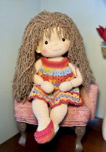 Handmade Waldorf Style Crochet Doll