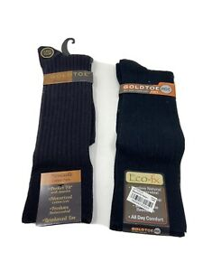 NEW 2 Gold Toe Dress Socks Size 6-12.5 New Castle Sock & Eco-fx All Day Comfort