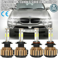9005 + H7 LED Car Headlight 80000LM High & Low Beam Bulbs for BMW X5 528i 540i