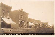 Dysart Iowa~West Main Street~JT Kranbuehl Furniture~Meat Market~Crowd~1911 RPPC