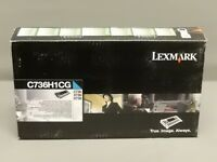 Lexmark C736H1CG Cyan High Yield Toner Cartridge C736 Genuine New Sealed Box