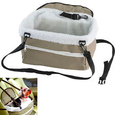 Collapsible Pet Booster Seat Dog Puppy Car Carriers Adjustable Strap Travel Bag