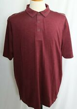 New Columbia Omni-Wick Alignment Short Sleeve Maroon Heathered Polo Men 2Xl