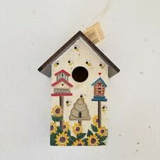 Sunflower And Bees Hanging Decorative Birdhouse ,Crazy Mountain