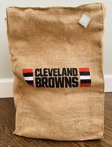NWT Cleveland Browns 2018 Burlap Sack Bag Brand Tailgate Supply Bag