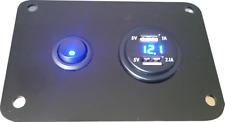 Single Switch Panel 12V BLUE USB Control Charging Unit Motorhome VW Campervan