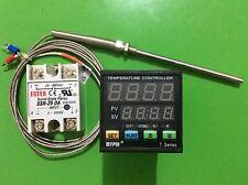 Digital F/C PIDTemperature Controller Thermostat TA4-SNR +2M K sensor+25A DA SSR