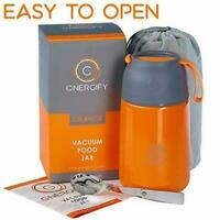 Vacuum Insulated Food Jar - Stainless Steel Food Thermos, Soup Bowl, Orange