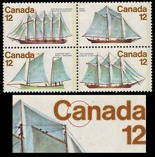 """CANADA 747a - Canadian Sailing Vessels """"Stroke through A"""" Flaw (pf66589)"""