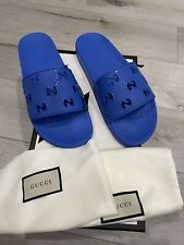 GUCCI GG PURSUIT Rubber Slides Sandals NIB Authentic Gucci Size 9UK (10US) Men's