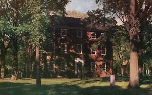 Vintage Postcard Massachusetts Hall in 1802 Houses the Brusar's Office MA