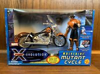 Wolverine Mutant Cycle X-Men Evolution Action Figure Set 2001 Toybiz New Marvel
