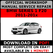 # OFFICIAL WORKSHOP Service Repair MANUAL for BMW SERIES 1 F20 2011-2017  #