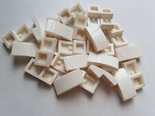 Lego White Slope Curved 1x2, Part 11477, Element 6034044, Qty:25 - New