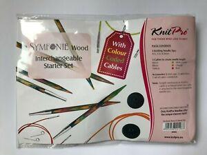 KnitPro Symfonie Wood Interchangeable Circular Knitting Needle Starter Set