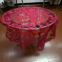 Valentine's Day Lace Love Table Runner Dining Table Cover Decor Tablecloth D