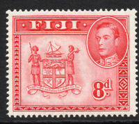 Fiji 8d Stamp c1938-55 Mounted Mint Hinged (4158)