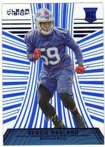 2016 Panini Clear Vision Rookies RC Blue Level 1 /99 #114 Reggie Ragland Bills