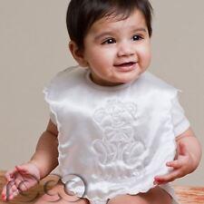Baby Ivory Embroidered Christening Bib Babies Christening Bib White Babys Bib