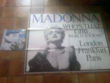 """MADONNA """"true blue""""  vinyl lp + poster affiche"""