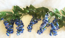 BLUE Wisteria Garland ~ Silk Wedding Flowers Arch Gazebo Decorations Centerpiece