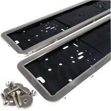 2 Kennzeichenhalter Edelstahl poliert Chrom Kennzeichen Nummernschildhalter