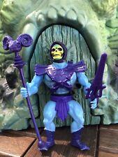 Vintage Masters Of The Universe MOTU He Man Skeletor Figure With Weapons